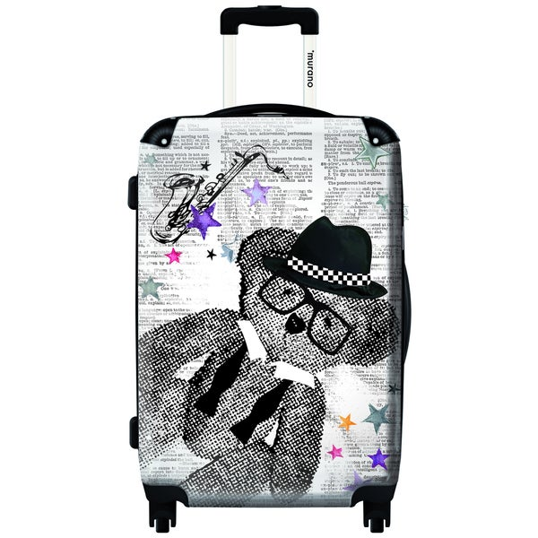 Murano Teddy Is Having Fun 20-inch Carry On Hardside Spinner Suitcase