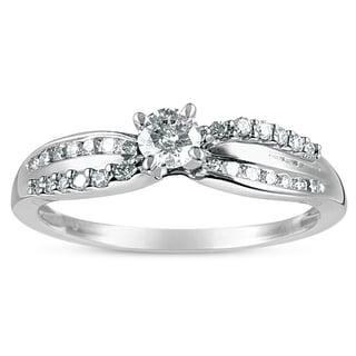 Eloquence 10k White Gold 1/2ct TDW Diamond Engagement Ring (H-I, I2-I3)