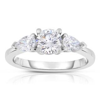 Eloquence 18k White Gold 1 1/4ct TDW Diamond Engagement Ring (E-F, VS1-VS2)