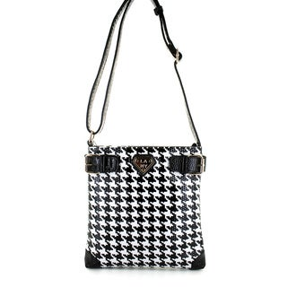 LANY 'Houndstooth' Print 11-Inch Cross- Body Messenger Bag