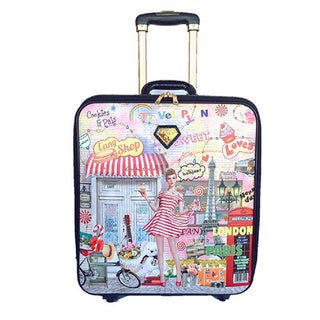 LANY Candy Shop 16-inch Carry On Spinner Travel Suitcase