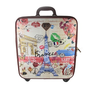 LANY France 16-inch Carry On Spinner Travel Suitcase