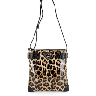 LANY 'Cheetah' Print 11-Inch Cross- Body Messenger Bag