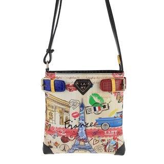 LANY 'France' Print 11-Inch Cross- Body Messenger Bag