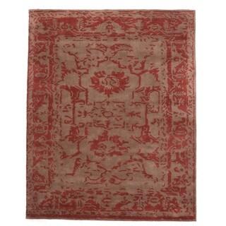 Tempest Sand Wool Hand-tufted Rectangular Area Rug (7'9 x 9'9)