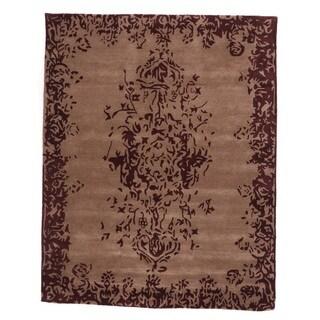 Tempest Sand Wool Hand-tufted Rectangular Area Rug (4'9 x 7'9)