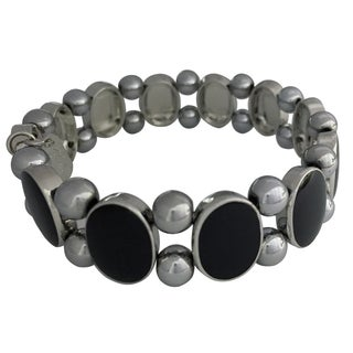 Magnetic Hematite Onyx Bracelet