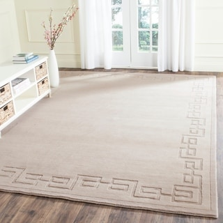 Safavieh Hand-knotted Tibetan Silver Wool Rug (9' x 12')