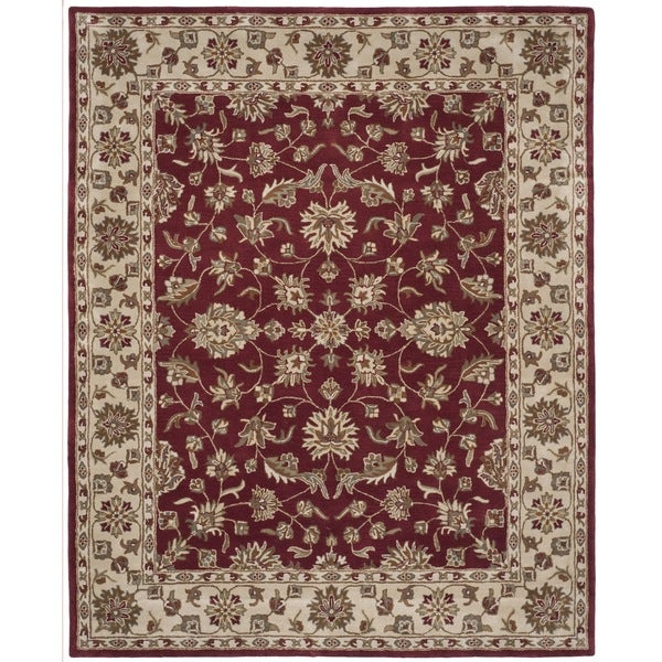 Safavieh Handmade Stratford Red/ Beige New Zealand Wool Rug (8' x 10')