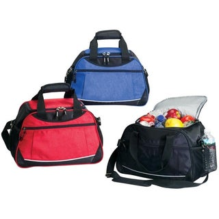 Zip Around Outdoor Spacious Large 24 pack Beverage Party Lunch Insulated Picnic Cooler Bag w/ Shoulder Strap