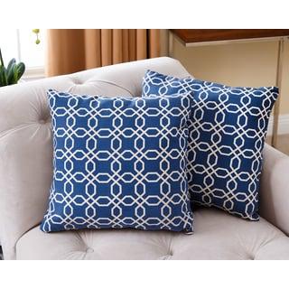 Abbyson Living Avery Navy Blue 18-inch Throw Pillow (Set of 2)