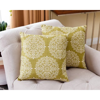Abbyson Living 18-inch Floral Moss Pillows (Set of 2)