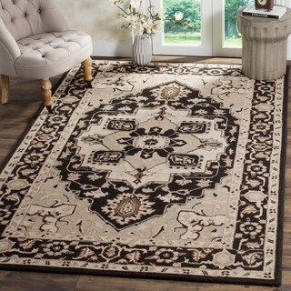 Safavieh Hand-hooked Chelsea Black/ Natural Wool Rug (8'9 x 11'9)