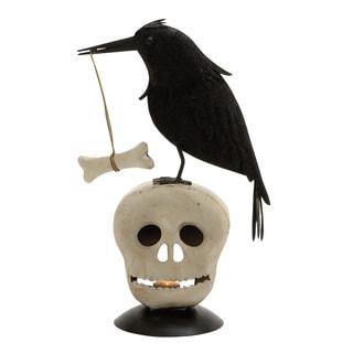 Spooky Metal Bird Skeleton Head