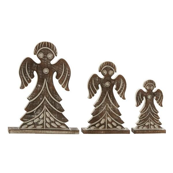Wood Angels (Set of 3)