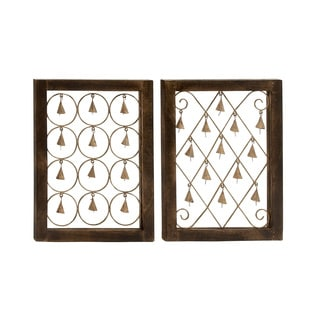 Assorted Wood Bell Wall Decors (Set of 2)