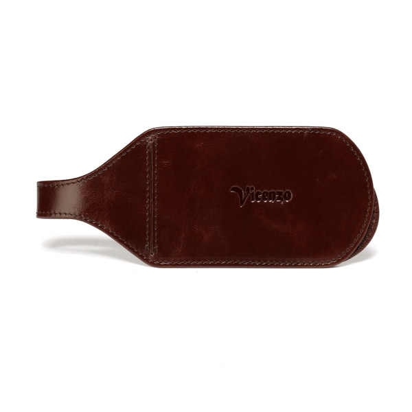 Vicenzo Leather Monaco Leather Luggage Tag