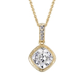Collette Z Sterling Silver White Cubic Zirconia Gold-Plated Pendant