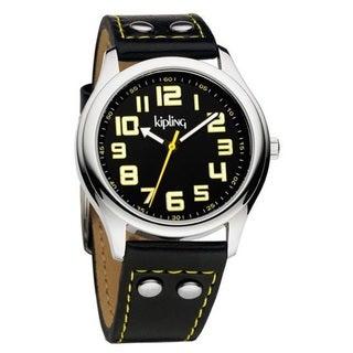 Kipling Unisex Vintage Black Strap Quartz Watch