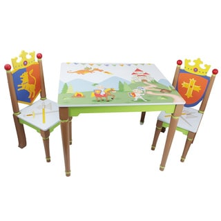 Fantasy Fields Knights and Dragons Table with a Set of 2 Chairs