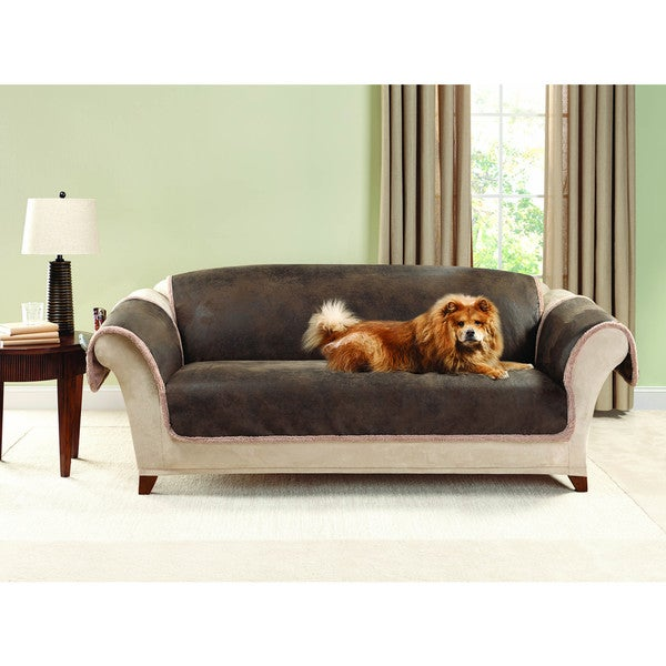 Sure Fit Vintage Leather Sofa Furniture Protector
