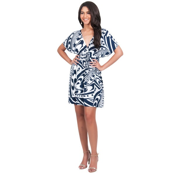 Koh Koh Women's Sun Summer Mini Dress