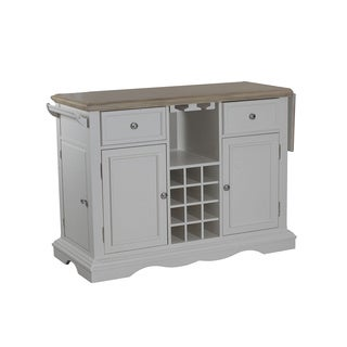 Oh! Home Salem White Kitchen Island