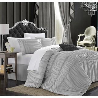 Chic Home Romano 4-piece Silver Queen-size Duvet Cover Set