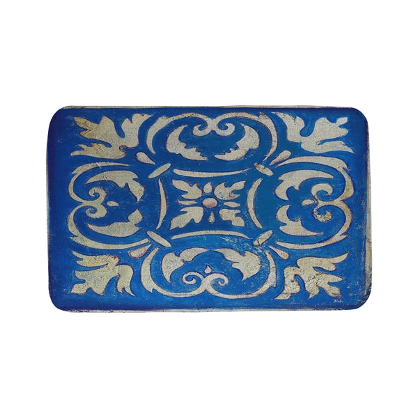 Thumbprintz Blue Mosaic Bath Mat