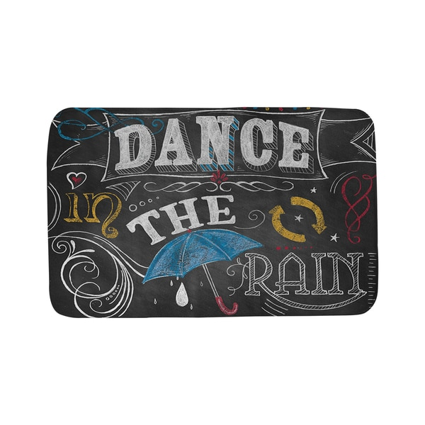 Thumbprintz Chalkboard Dance in the Rain Bath Mat