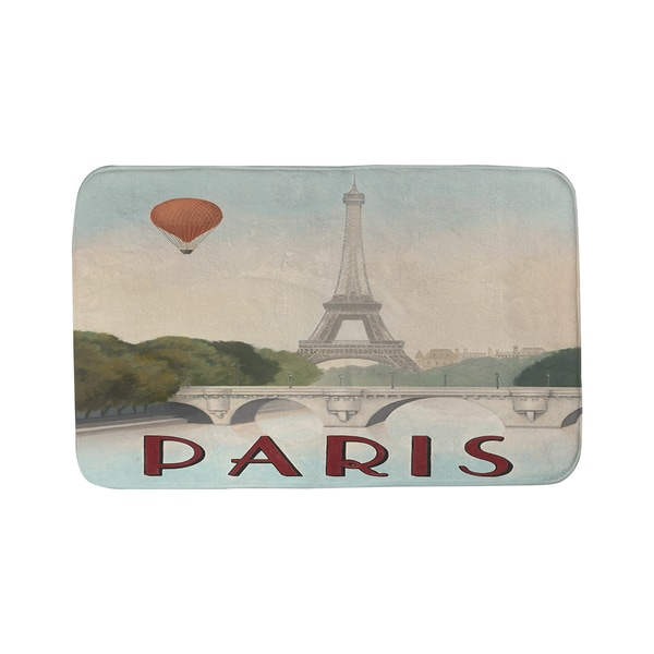 Thumbprintz City Skyline Paris Bath Mat
