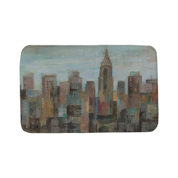 Thumbprintz Cityscape at Dawn Bath Mat
