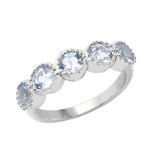 Sterling Silver 1 1/10ct TGW Aquamarine Ring