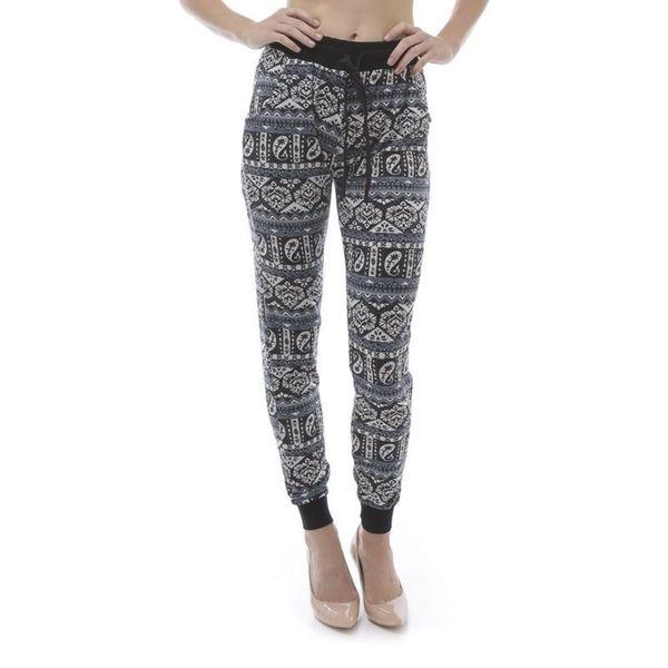 Soho Women Geometric Paisley Print Jogger Pants