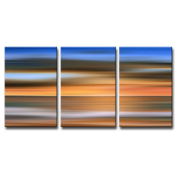 Ready2HangArt 'Blur Stripes IX' 3-PC Canvas Wall Art Set