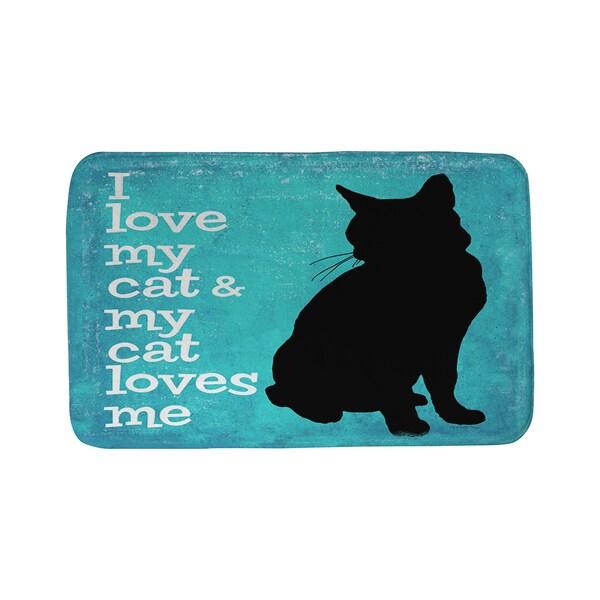 I Love My Cat Bath Mat 16953215