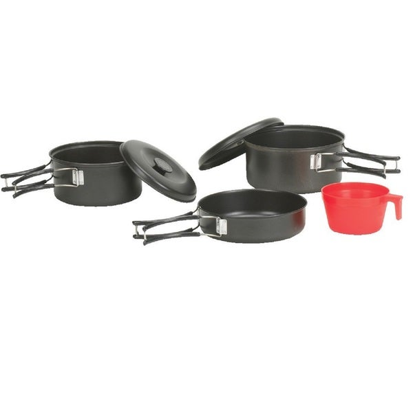 Stansport Black Granite 6 Piece One Person Cook Set
