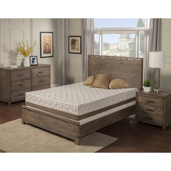 Blissful Nights Poeny 10-inch Cal King-size Memory Foam Mattress