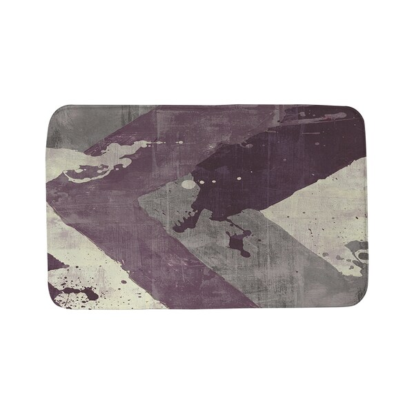 Thumbprintz Splatter No 1 Purple Bath Mat