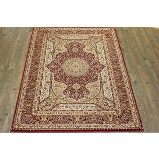 Burgundy Tabriz Persian Area Rug (5'3 x 7'5)