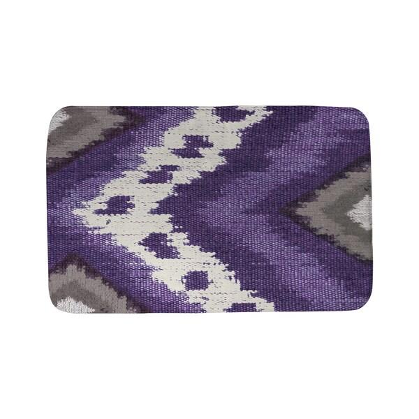 Thumbprintz Tribal Ikat Plum Bath Mat