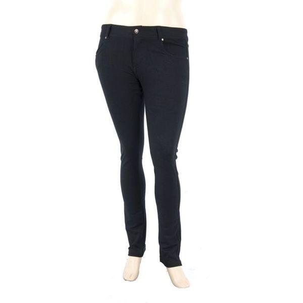 Soho Plus Size Black Ladies Stretch Pants