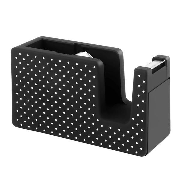 Insten Black/ White Dot Soft Touch Desktop Tape Dispenser