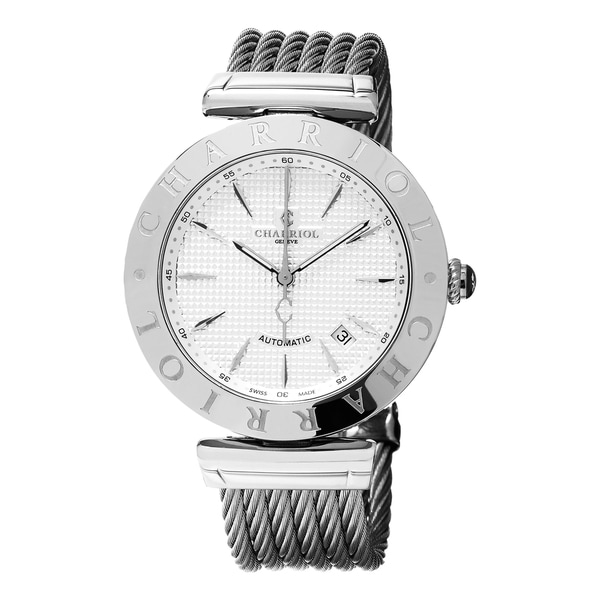 Charriol Men's ALAS.51.A001 'Alexandre C' Silver Dial Stainless Steel Swiss Automatic Watch 16953810