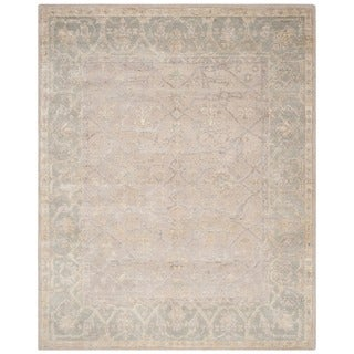 Safavieh Hand-knotted Maharaja Putty/ Grey Wool Rug (8' x 10')