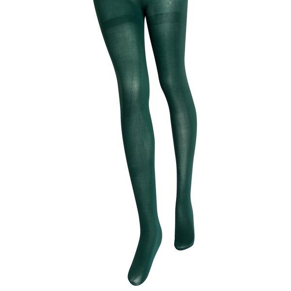 Zodaca Dark Green Women Color Stockings Tights