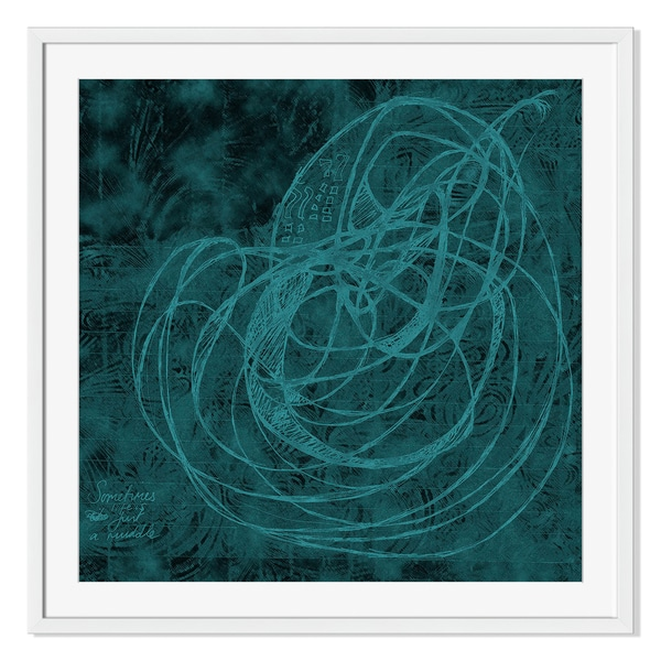 Sometimes Life is Just a Muddle Print on Paper Framed Print