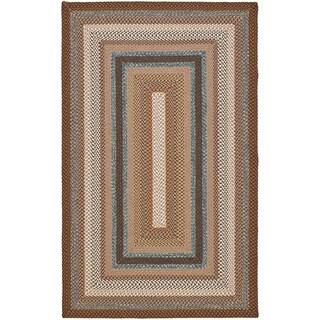 Safavieh Hand-woven Braided Brown/ Multi Rug (10' x 14')