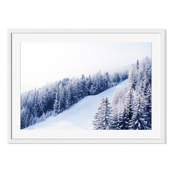 Ski Slope Print on Paper Framed Print