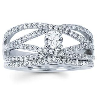 Boston Bay Diamonds 14k White Gold Open Multi-row Diamond Engagement Ring (H-I, SI2-I1)